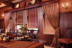 Деревянные и бамбуковые жалюзи