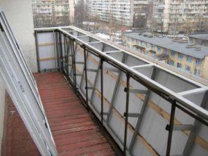 Укрепление парапета балкона в Серпухове
